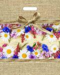 Купить оптом полиэтиленовый пакет Цветочный Мешочек с прорубной (вырубной) ручкой от Тико