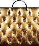 Купить оптом полиэтиленовый пакет Золотая кожа ТИКО-Пластик 37x36 с пластиковой ручкой