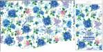 Купить оптом полиэтиленовую скатерть для пикника Гортензия 120x180 от Интерпак