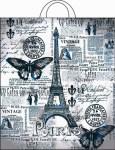 Купить оптом полиэтиленовый пакет Парижский день 38х42 40мкм с петлевой ручкой от Интерпак