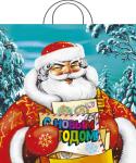 Купить оптом полиэтиленовый пакет Русская зима 42x38 40мкм с петлевой ручкой
