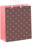 Купить оптом полиэтиленовый пакет Сердечки на бежевом 24x26 из мягкого пластика от ТИКО-Пластик