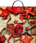 Купить оптом новогодний пакет Звездочки ТИКО-Пластик 37x36 100мкм с пластиковой ручкой