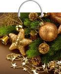 Купить оптом новогодний пакет Золотая звезда ТИКО-Пластик 37x36 100мкм с пластиковой ручкой
