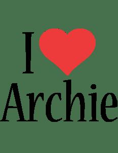 Archie Logo Name Logo Generator I Love Love Heart