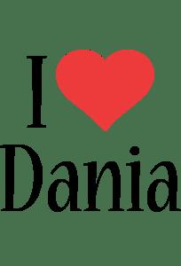 Dania Logo Name Logo Generator I Love Love Heart
