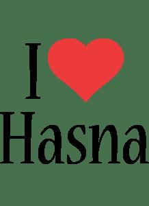 Hasna Logo Name Logo Generator I Love Love Heart