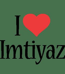 Imtiyaz Logo Name Logo Generator I Love Love Heart