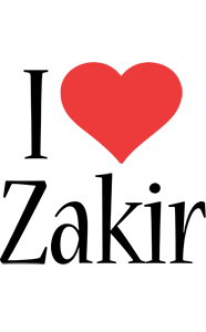 Zakir Logo Name Logo Generator I Love Love Heart
