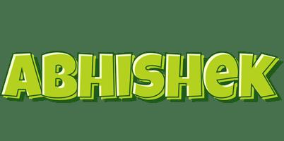 Abhishek Logo Name Logo Generator Smoothie Summer