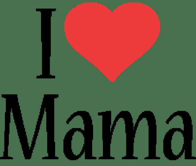 Mama I Love Logo