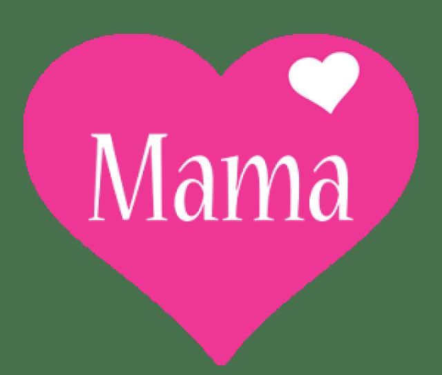 Mama Love Heart Logo