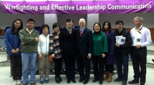 Right of Prof. Garcia, in green, Dr. Xiaojun Qian, Professor and Assistant Dean, School of Economics and Management, Tsinghua university; Left of Prof. Garcia, the publisher, Wendy Yang of Publishing House of Electronics Industry
