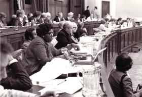 Rep. Barbara Jordan and the House Judiciary Committee, Summer, 1974