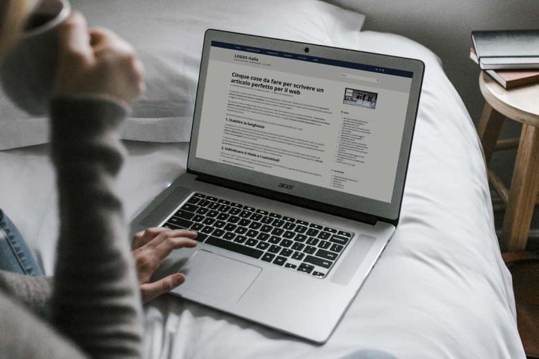 come scrivere articoli per il web -individuare il titolo e i sottotitoli - logositalia