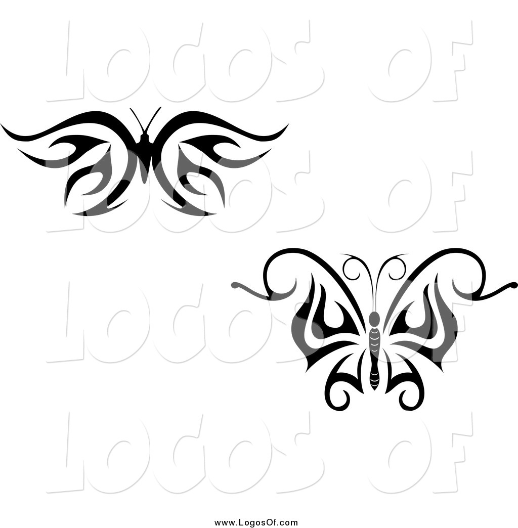 Larger Preview Vector Clipart Of Black And White Tribal