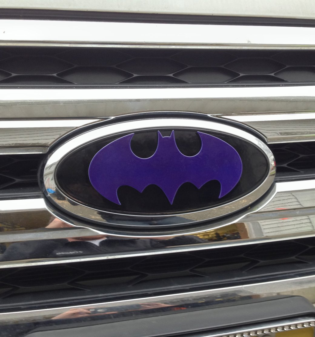 Batman logo on Ford truck
