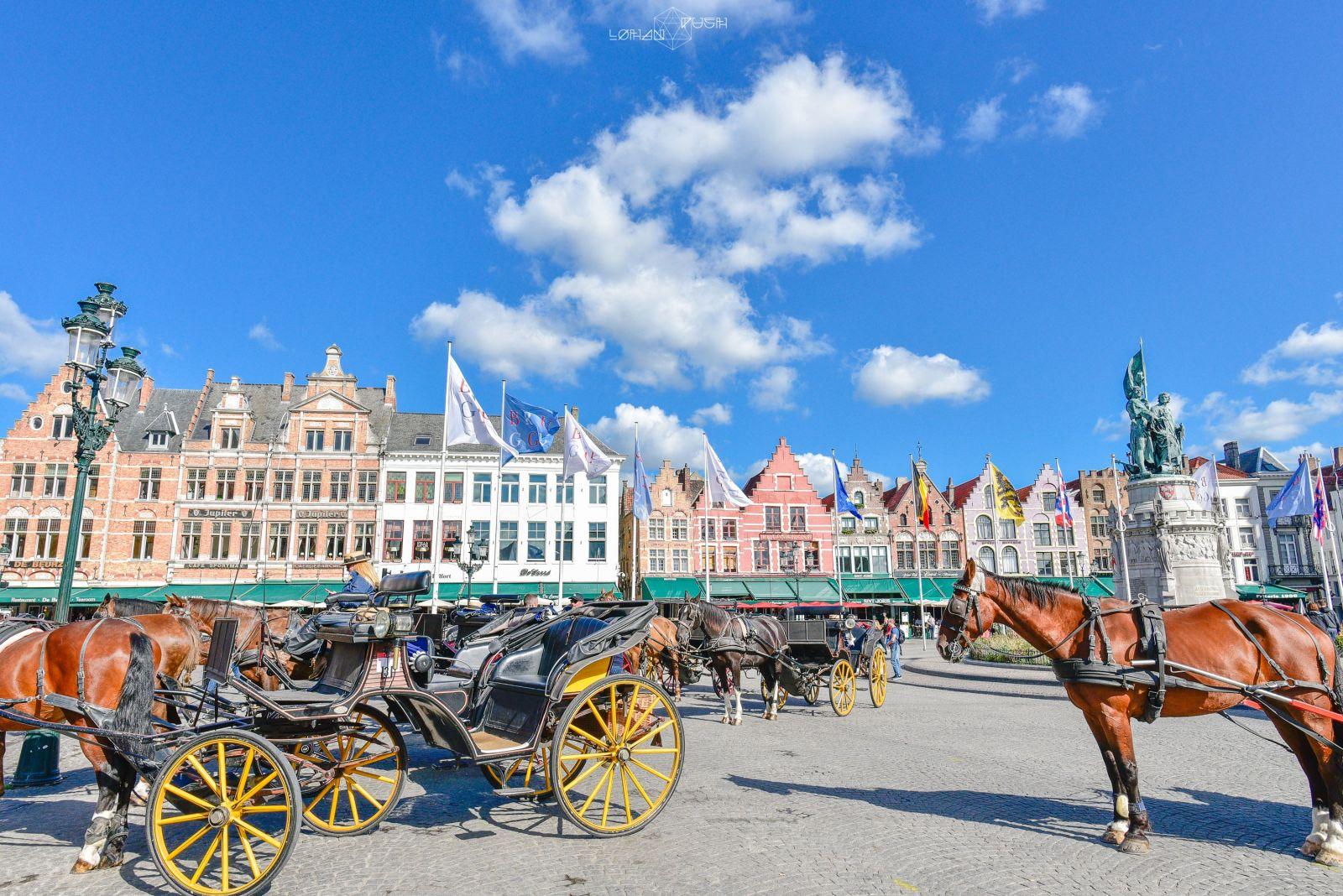 比利時 布魯日景點:登布魯日鐘樓俯瞰童話城鎮 - 輕旅行