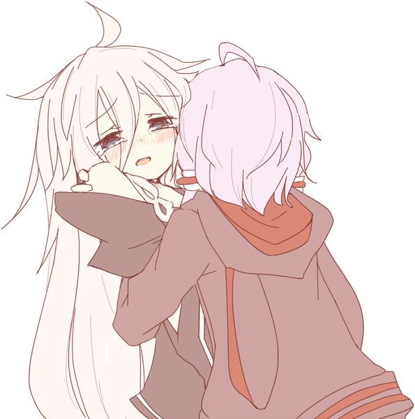 いあちゃんが涙目で好きな人に抱きしめられている絵 / miri_1m ...