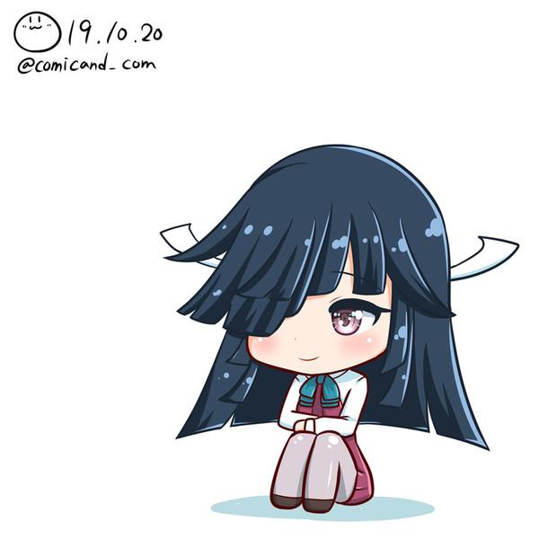 早霜 艦これワンドロ 191020 / しろまる さんのイラスト - ニコニコ靜畫 (イラスト)