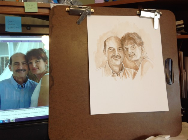 Portrait of Robert and Jeanie Loiacono on their wedding day