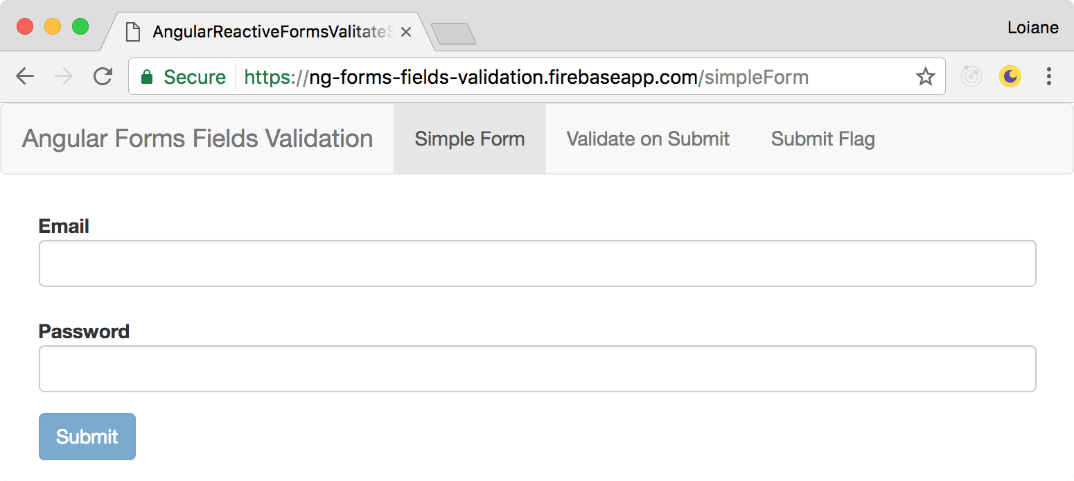 hight resolution of it is easy for the user to guess it is needed to inform both fields before the submit button becomes available