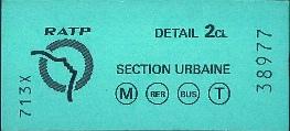Un très vieux ticket de métro.