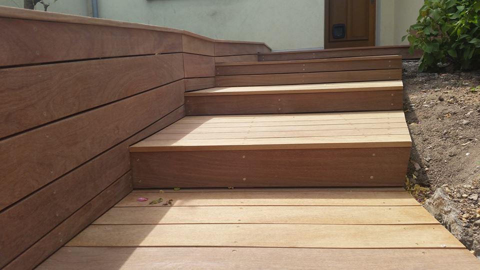 Escalier Lame Terrasse Bois