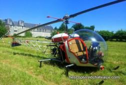 baptême en helicoptère au château de Selles sur Cher
