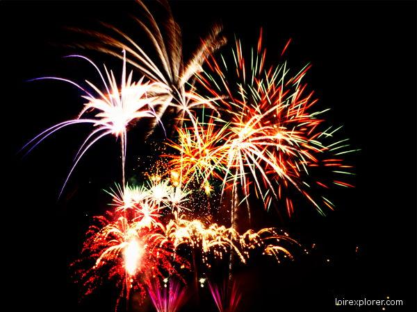fête 14 juillet feu d'artifice Selles sur Cher