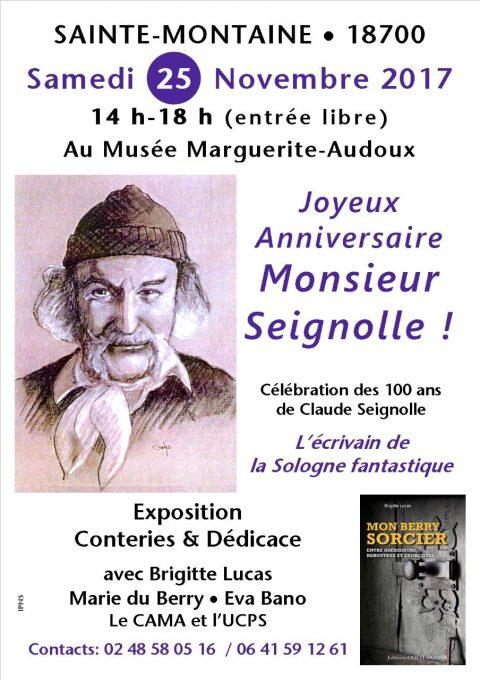 Joyeux anniversaire Monsieur Seignolle ! Exposition, conteries et dédicaces pour fêter vos 100 ans en Sologne