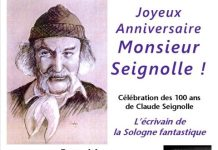 Joyeux anniversaire Monsieur Seignolle ! Sainte-Montaine aussi va fêter vos 100 ans le 25 novembre au Musée marguerite Audoux