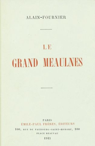 Couverture de l'édition originale du roman d'Alain-Fournier, Le Grand Meaulnes, Paris, Emile-Paul Frères, sept.oct. 1913 By Marc-AntoineV