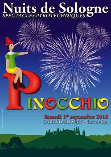 nuite de Sologne 2018 Spectacle Pyrotechnique Pinocchio
