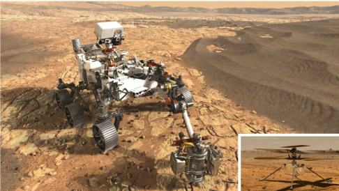 Le robot Mars 2020 et son hélicoptère en quête de vie sur Mars