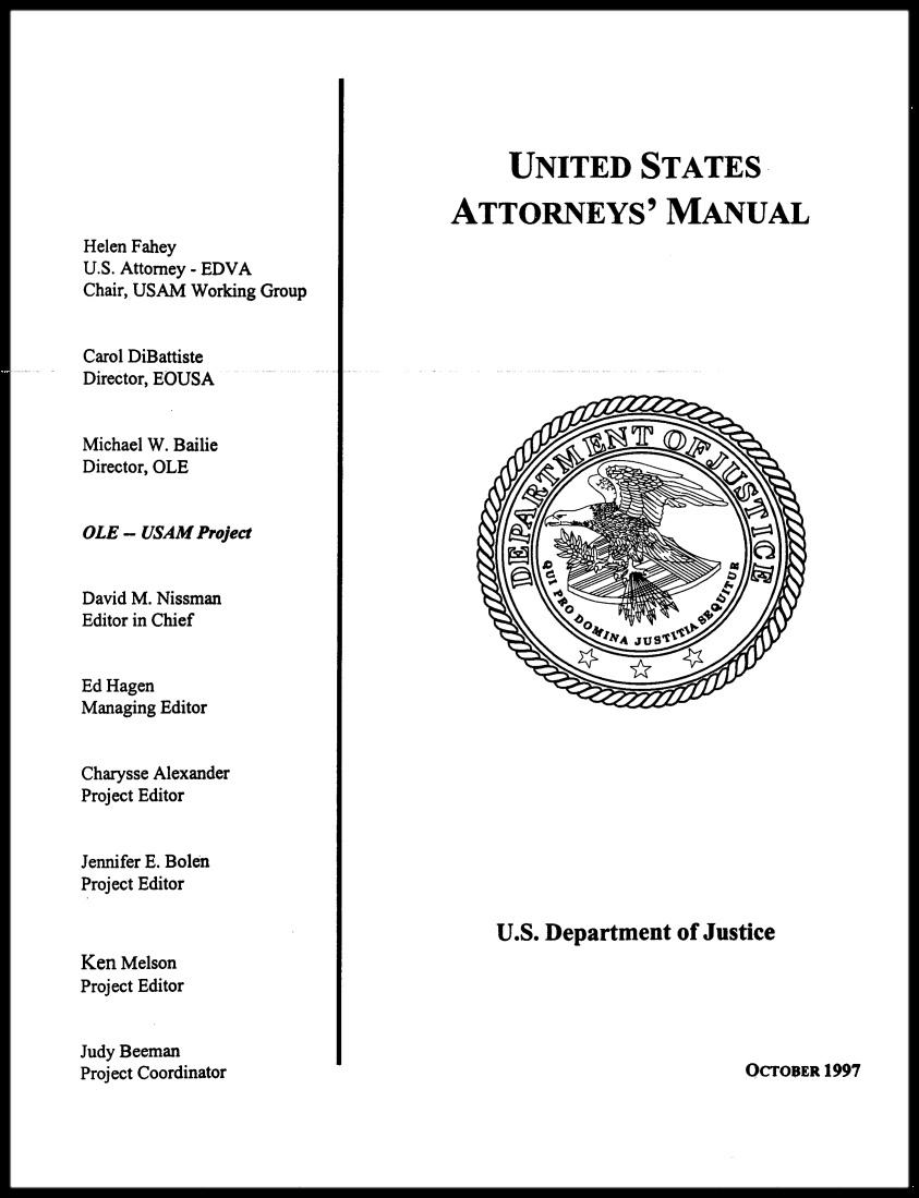 Les gens de justice américains III : les procureurs