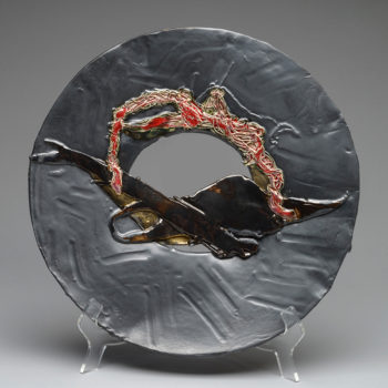 Image: Slate Plate - Lois Sattler, American Artist, Ceramicist
