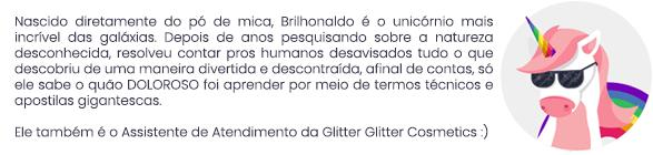 brilhonaldo, o agente secreto do glitter biodegradável.