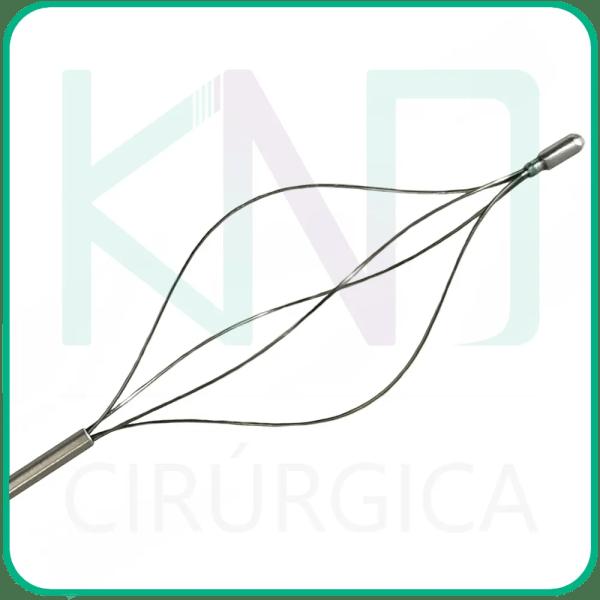 Pinça Extratora de Cálculos Basket Autoclavável para Urologia - Cesta de Nitinol
