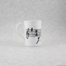 caneca porcelana partitura
