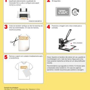 Papel Sublimático A4 Resinado Premium H1 - 100 Folhas
