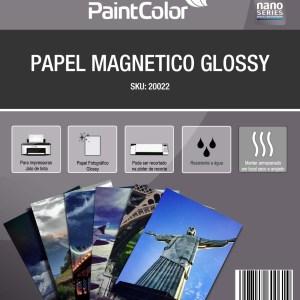Papel Fotográfico Magnético Glossy para Jato de Tinta A4 700g 5 Folhas