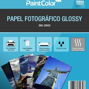 Papel Fotográfico Glossy para Jato de Tinta A3 180g 100 Folhas