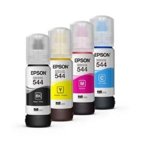Tinta Epson T544 para Impressora Ecotank 260mL - Kit com 4 Cores de 65mL