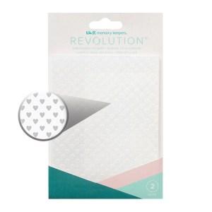 Placa de Emboss Corações e Estrelas We R Revolution - Kit com 2 Peças