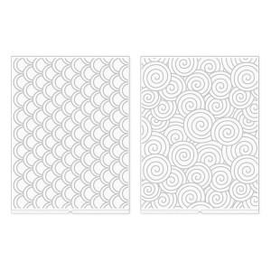 Placa de Emboss Espiral We R Revolution - Kit com 2 Peças
