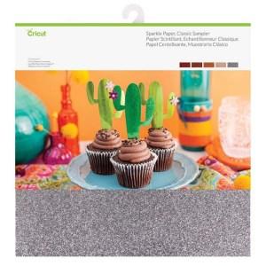 Papel Cartão Brilhante 5 Cores Clássico - Cricut Cardstock 30x30 cm - 10 Folhas