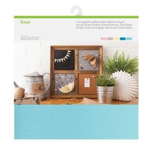 Papel Cartão Liso e Ondulado 5 Cores Tons Pastéis - Cricut Cardstock - 20 folhas