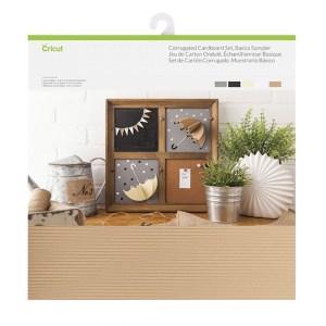 Papel Cartão Liso e Ondulado 5 Cores Básico - Cricut Cardstock - 20 folhas