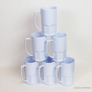 Caneca de Chopp Polimero para Sublimação Branca 550ml - 6 Unidades